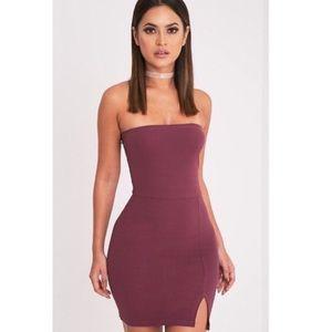 Purple Tube Bodycon Dress
